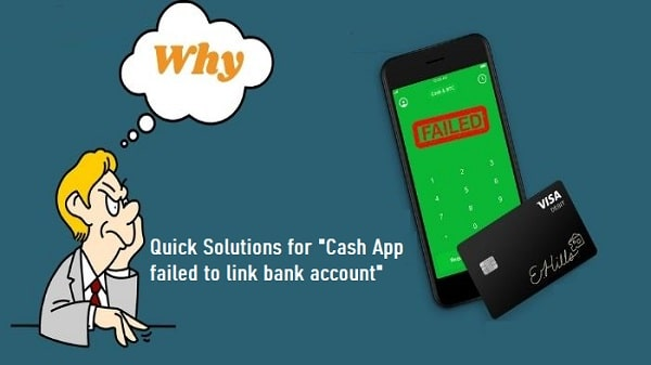 Cash App failed to link bank account
